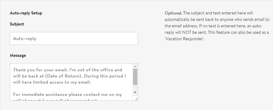 ตัวอย่างข้อความ Autoresponder Email Messages ภาษาอังกฤษ เวลา