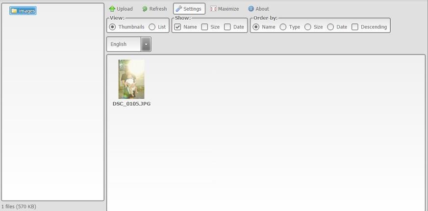 KCFinder web file manager (open-source) ฟรี