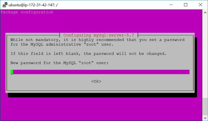 ติดตั้ง MySQL ใน AWS EC2 – Ubuntu 16.04