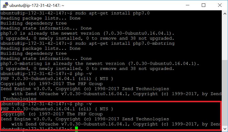 ติดตั้ง PHP 7.0 ใน AWS EC2 - Ubuntu 16.04