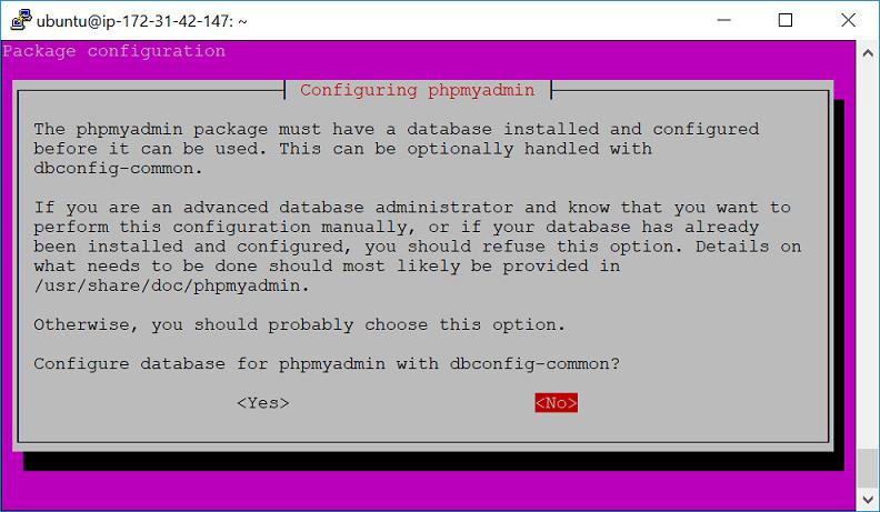 ติดตั้ง phpMyAdmin ใน AWS EC2 – Ubuntu 16.04