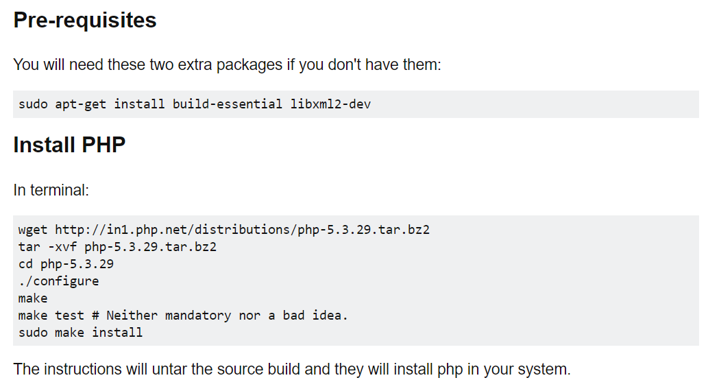 Install php-5.3.29