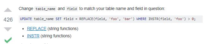 MySQL search and replace some text in a field - ค้นหาและแทนที่ข้อความ และอัพเดทใน MySQL