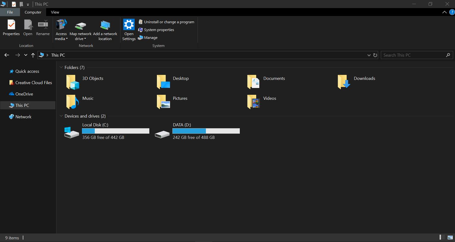 เปิดใช้งาน Dark theme ใน Windows 10