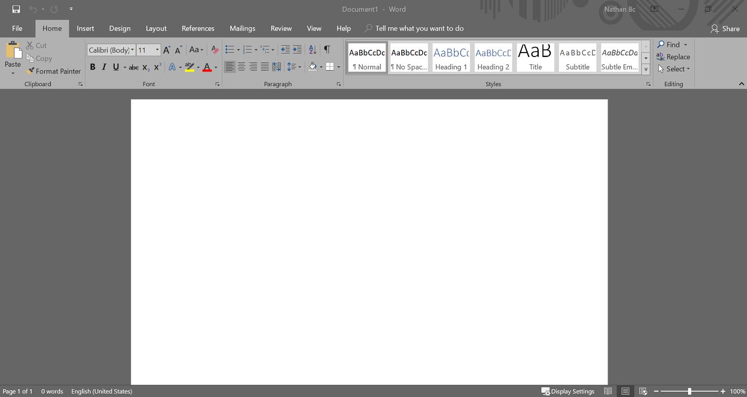 เปลี่ยน Theme ใน Microsoft Office เป็น Dark theme