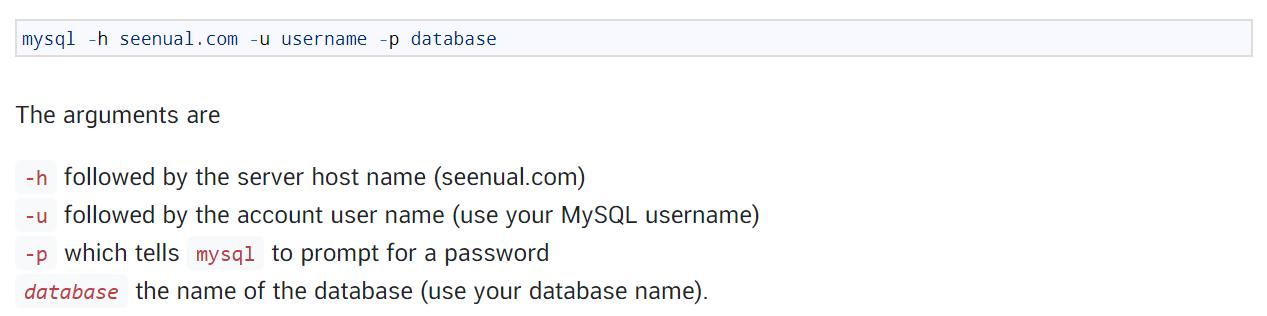 Accessing MySQL Databases from Linux - เข้าถึง MySQL ผ่าน Linux