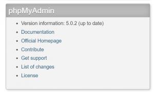 Manually Upgrade phpMyAdmin